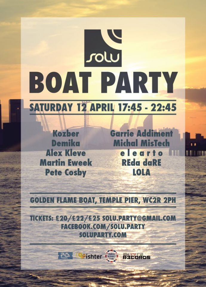 SOLU Boat Party  - 12th April 2014