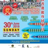 Londýnsky festival dračích člnov
